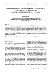 the role of public higher vocational institutions in spatial