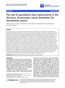The role of quantitative mass spectrometry in the ... - Research Portal