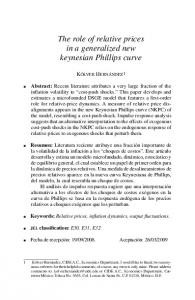 The role of relative prices in a generalized new keynesian Phillips curve