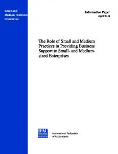 The Role of Small and Medium Practices in Providing Business ...