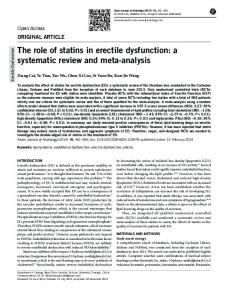 The role of statins in erectile dysfunction: a systematic ... - BioMedSearch