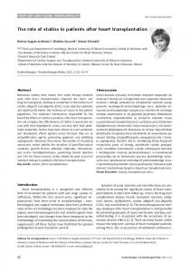 The role of statins in patients after heart ... - Semantic Scholar