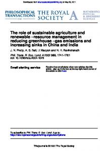 The role of sustainable agriculture and renewable