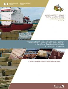 the role of tariff and non-tariff trade barriers in the global forest ...