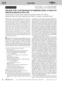 The Role of the Axial Substituent in