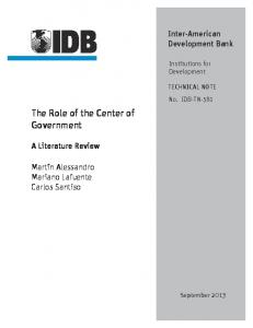 The Role of the Center of Government - IDB - Publications - Inter