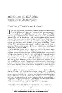 the role of the economist in economic development - SSRN papers