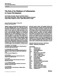 The Role of the Mediators of Inflammation in Cancer ...