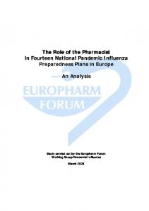 The Role of the Pharmacist in Fourteen National Pandemic Influenza ...