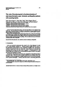 The role of the pharmacist in the determination of ... - IOS Press