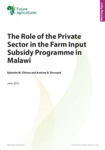 The Role of the Private Sector in the Farm Input Subsidy ... - CiteSeerX