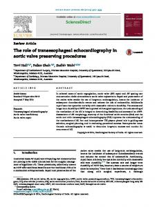 The role of transesophageal echocardiography in aortic valve ... - Core