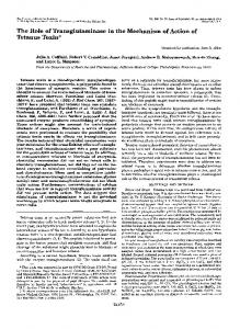 The Role of Transglutaminase in the Mechanism of ... - Semantic Scholar
