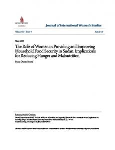 The Role of Women in Providing and Improving Household ... - Core