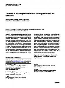 The roles of microorganisms in litter decomposition and soil formation ...