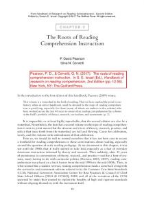 The Roots of Reading Comprehension Instruction