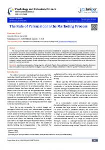 The Rule of Persuasion in the Marketing Process - Juniper ...www.researchgate.net › publication › fulltext › The-Rule-