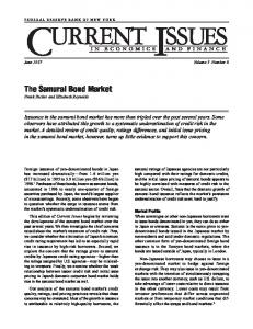 The Samurai Bond Market - Federal Reserve Bank of New York