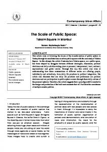 THE SCALE OF PUBLIC SPACE: TAKSIM SQUARE IN ISTANBUL / journal of contemporary urban affairs (JCUA)