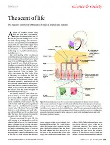 The scent of life - Wiley Online Library