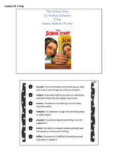 The School Story by Andrew Clements E Day ... - KCSD Staff Pages