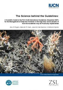 The Science behind the Guidelines - IUCN