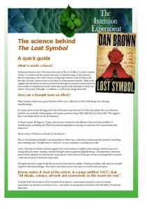 The science behind The Lost Symbol - The Intention Experiment