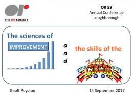 The sciences of the skills of the - The OR Society