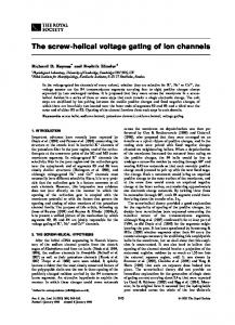 The screw-helical voltage gating of ion channels - NCBI