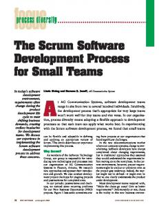 The Scrum Software Development Process for Small Teams