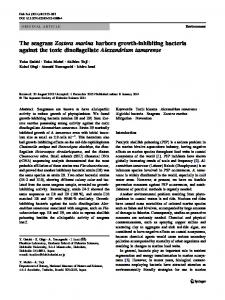 The seagrass Zostera marina harbors growth-inhibiting ... - Springer Link