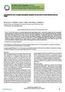 THE SEARCH FOR THE R1-NJMAIZE GENE ... - BioInfo Publication