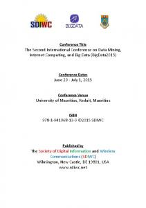 The Second International Conference on Data Mining