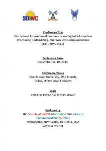 The Second International Conference on Digital ...