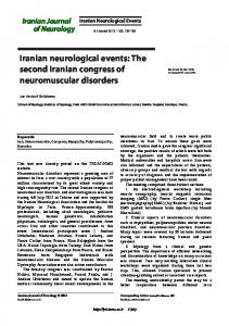 The second Iranian congress of neuromuscular disorders
