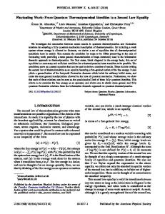 The second law of quantum thermodynamics as ... - APS Link Manager