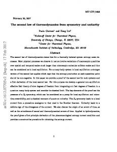 The second law of thermodynamics from symmetry and unitarity