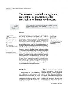 The secondary alcohol and aglycone metabolites ... - Semantic Scholar