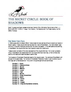 THE SECRET CIRCLE BOOK OF SHADOWS (PDF, 179KB) Click to ...
