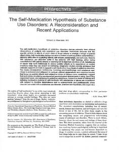 The Self-Medication Hypothesis of Substance Use ...