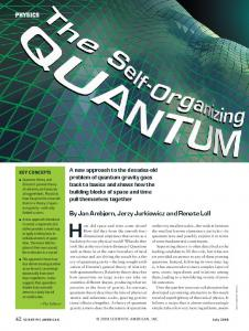 The Self-Organizing Quantum Universe