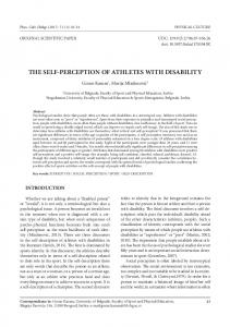 THE SELF-PERCEPTION OF ATHLETES WITH DISABILITY