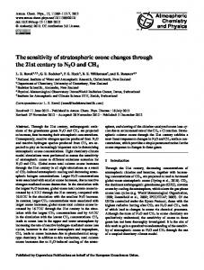 The sensitivity of stratospheric ozone changes ... - Atmos. Chem. Phys