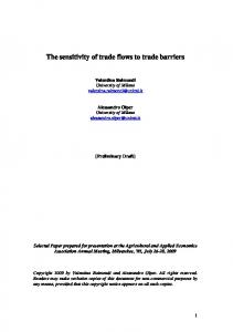The sensitivity of trade flows to trade barriers - AgEcon Search