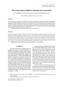 The serine protease inhibitors and plant-insect interaction - SciELO