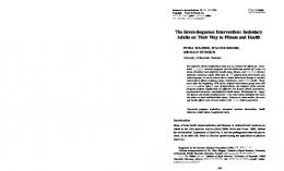 The Seven-Sequence Intervention: Sedentary Adults ...