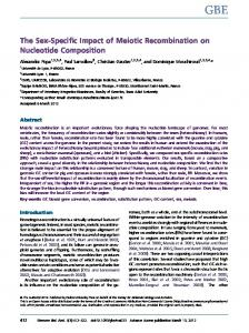 The Sex-Specific Impact of Meiotic Recombination on Nucleotide ...