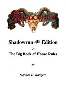 The Shadowrun 4th Edition Sourcebook
