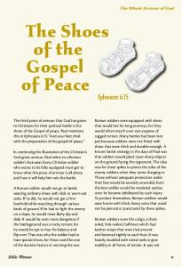 The Shoes of the Gospel of Peace
