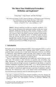 The Short-Time Multifractal Formalism: Definition and Implement